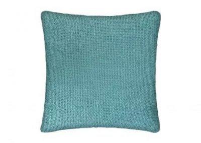 Almohadón algodón turquesa