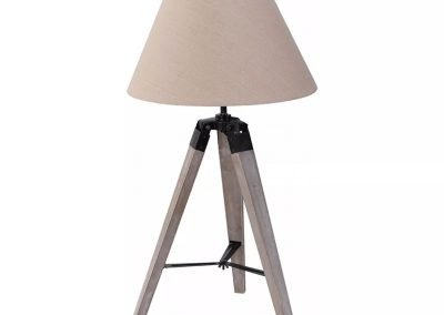 Lámpara de mesa PVC y madera