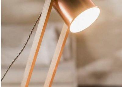 Lámpara de mesa Soho cobre