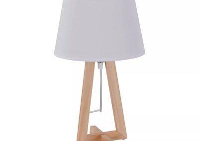 Lámpara de mesa blanco y madera