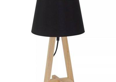 Lámpara de mesa negro y madera