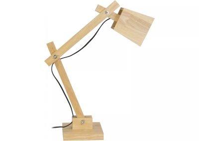Lámpara mesa beige madera