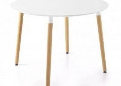Mesa comedor Eames blanca