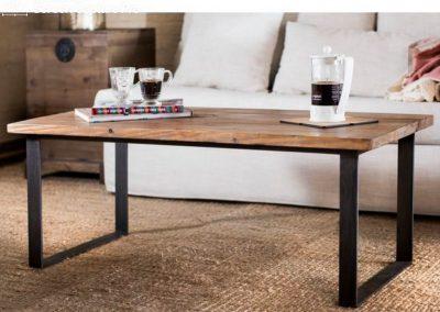 Mesa ratona Carolina madera y hierro