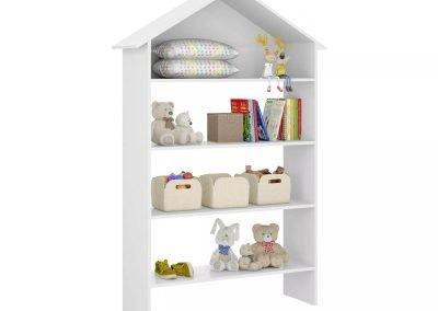 Organizador blanco casita 4 estantes