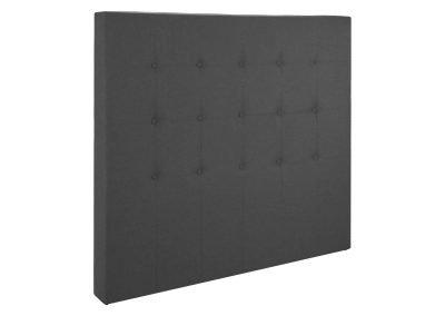 Respaldo gris tela capitoneado 1 plaza y media