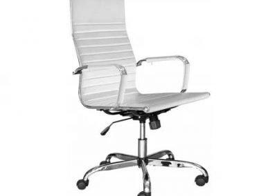 Silla escritorio blanco símil cuero