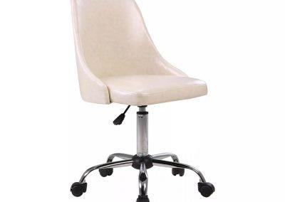 Silla escritorio blanco símil cuero III