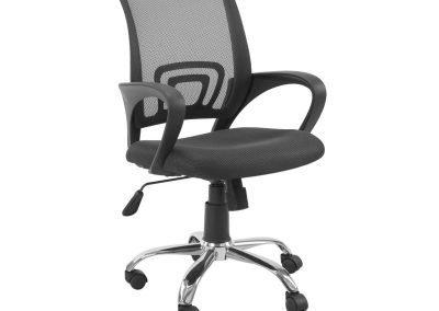 Silla escritorio negro malla