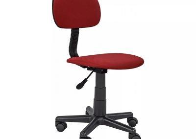 Silla escritorio rojo tela