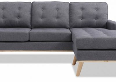 Sofá con Chaise Longue Eames gris