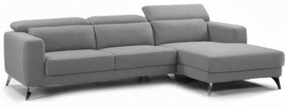 Sofá con Chaise Longue Thelma gris